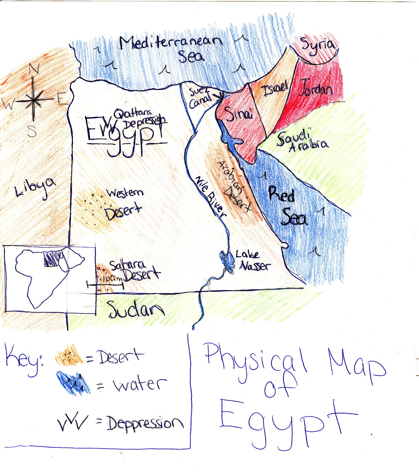 Ljhskhaidari Physical Map Of Egypt - Egypt physical map